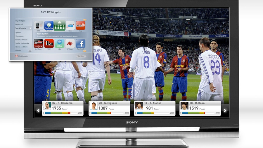 miCoach Elite has a place in your TV widgets, as well. Turn it on or off on any game to see streaming data, going even deeper into the numbers.
