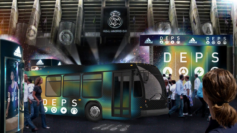 Also coinciding with the launch would be stadium-side demonstrations of the technology. Interactive bus-load play stations will allow people to suit up and see how their DEPS compares to their favorite players.